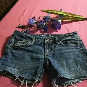 Jean stretch shorts